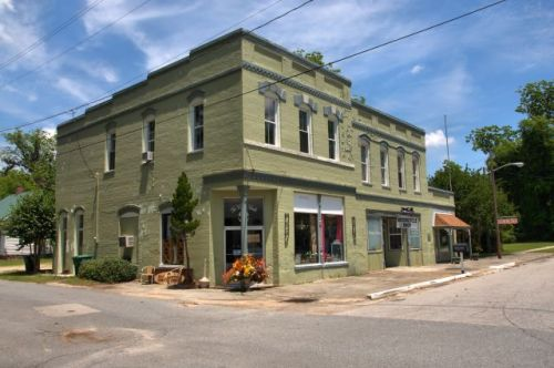 guyton ga historic commercial block photograph copyright brian brown vanishing south georgia usa 2016