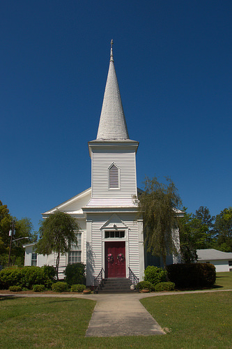 Guyton Methodist Church Antebellum Landmark Conical Shake Steeple Photograph Copyright Brian Brown Vanishing South Georgia USA 2014