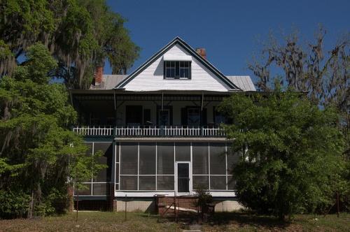 Historic Vernacular Architecture Screened in Porch Guyton GA Photograph Copyright Brian Brown Vanishing South Georgia USA 2014