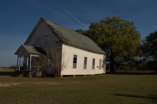 Live Oak Methodist Church Turner County GA Abandoned Historic Southern Structure Photograph Copyright Brian Brown Vanishing South Georgia USA 2014
