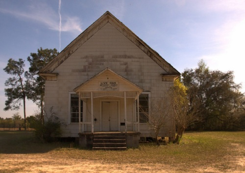 Live Oak Methodist Church Turner County GA Abandoned Historic Structure Photograph Copyright Brian Brown Vanishing South Georgia USA 2014