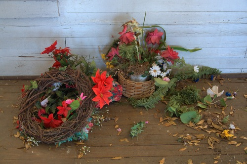 Live Oak Methodist Church Turner County GA Old Christmas Flowers Wreath Photograph Copyright Brian Brown Vanishing South Georgia USA 2014