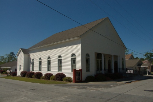 Pine Street Baptist Church Guyton GA Photograph Copyright Brian Brown Vanishing South Georgia USA 2014
