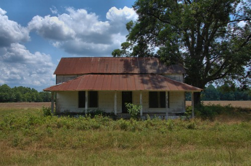 Abandoned Farmhouse Appling County GA Photograph Copyright Brian Brown Vanishing South Georgia USA 2014