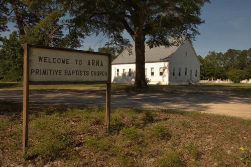 Arna Primitive Baptist Church Atkinson County GA Photograph Copyright Brian Brown Vanishing South Georgia USA 2014