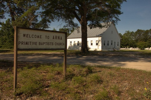 Arna Primitive Baptist Church Atkinson County GA Photograph Copyright Brian Brown Vanishing South Georgia USA 2014