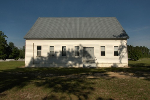 Arna Primitive Baptist Church Atkinson County GA Side View Photograph Copyright Brian Brown Vanishing South Georgia USA 2014