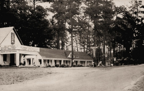 Bowen's Mill GA Ben Hill County Old Motor Court Cafe House Creek Real Photo Postcard Collection of Brian Brown Vanishing South Georgia USA 2014