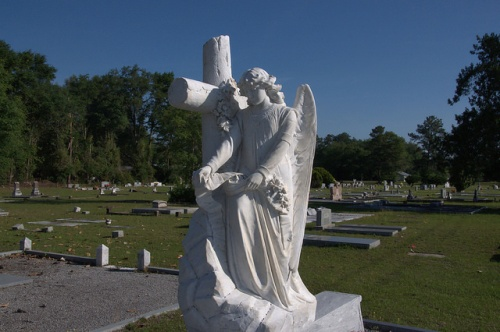 Cemetery Angel Willacoochee GA Dr. Thomas A Gaskins Photograph Copyright Brian Brown Vanishing South Georgia USA 2014