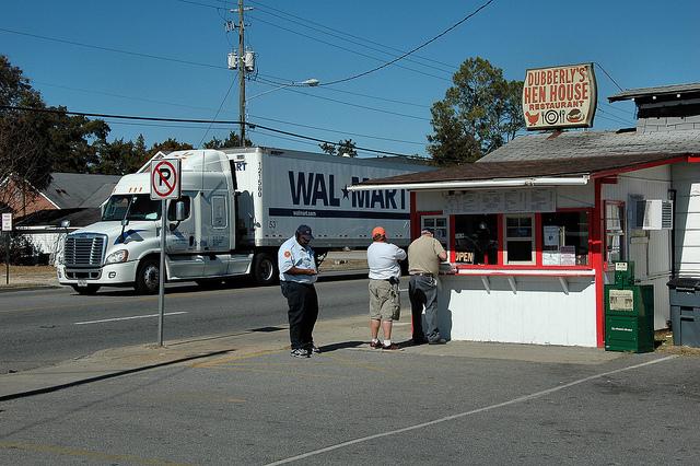 Dubberly's Hen House Fried Chicken Restaurant Glennville GA Tattnall County Photograph Copyright Brian Brown Vanishing South Georgia USA 2014