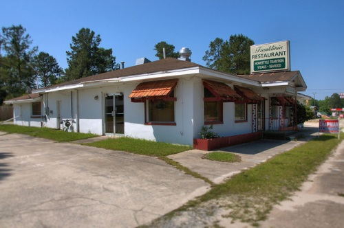 Franklinia Restaurant Ludowici GA Long County US Highway 84 Photograph Copyright Brian Brown Vanishing South Georgia USA 2014