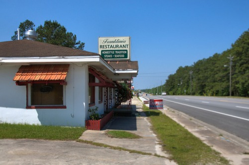 Franklinia Restaurant Ludowici GA Long County US Highway 84 Roadside Diner Photograph Copyright Brian Brown Vanishing South Georgia USA 2014