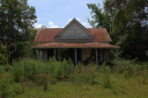 Lumber City GA Telfair COunty Abandoned Vernacular House Photograph Copyright Brian Brown Vanishing South Georgia USA 2014