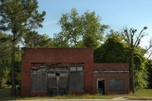 Willacoochee GA Atkinson County Abandoned Storefront Photograph Copyright Brian Brown Vanishing South Georgia USA 2014