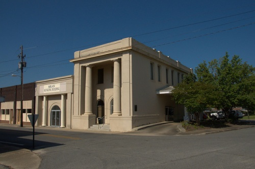 Bank of Milan GA Dodge County Photograph Copyright Brian Brown Vanishing South Georgia USA 2014