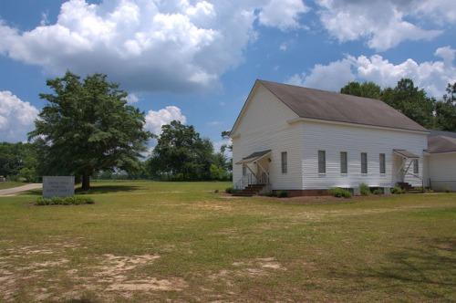 Battle Creek Primitive Baptist Church Tattnall County GA Photograph Copyright Brian Brown Vanishing South Georgia USA 2014