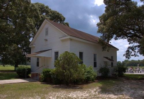 Mt. Carmel Methodist Church Oldest in Tattnall County GA Landmark Photograph Copyright Brian Brown Vanishing South Georgia USA 2014