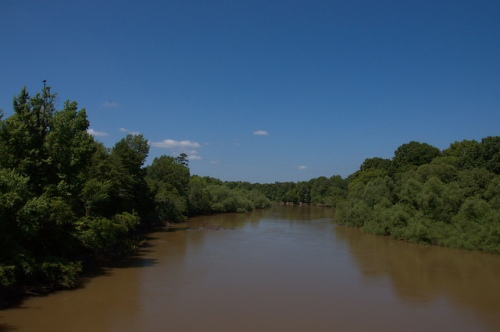 Ocmulgee River at Jacksonville GA Telfair Coffee County Line Boundary Photograph Copyright Brian Brown Vanishing South Georgia USA 2014