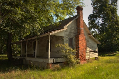 Rhine GA Dodge County Clapboard House Vernacular Architecture Photograph Copyright Brian Brown Vanishing South Georgia USA 2014