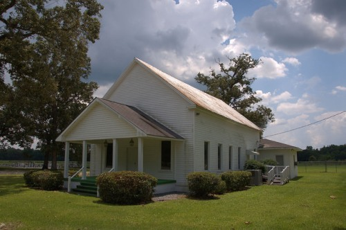 Rome Primitive Baptist Church Tattnall County GA Photograph Copyright Brian Brown Vanishing South Georgia USA 2014