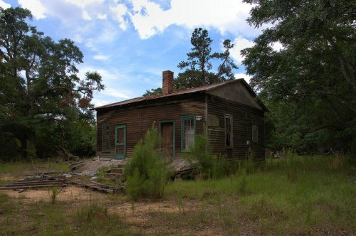 Screven County GA Jacksonboro Area Abandoned Farmhouse Photograph Copyright Brian Brown Vanishing South Georgia USA 2014
