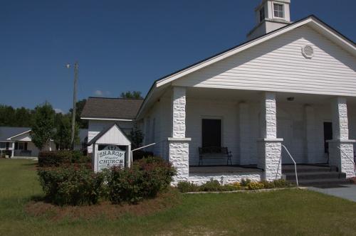 Sharon Baptist Church Telfair County GA Granitoid Photograph Copyright Brian Brown Vanishing South Georgia USA 2014