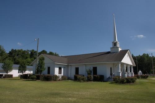 Sharon Baptist Church Telfair County GA Photograph Copyright Brian Brown Vanishing South Georgia USA 2014