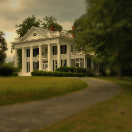 Sylvania GA Screven County Neoclassical Revival Architecture Landmark House Photograph Copyright Brian Brown Vanishing South Georgia USA 2014