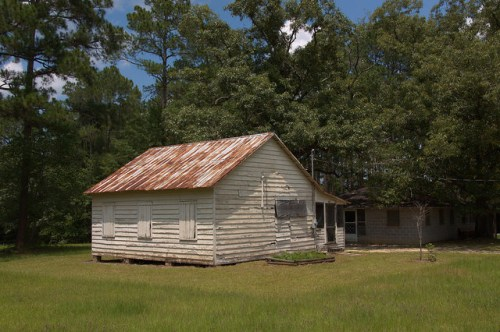 Tattnall Campground GA Old Cabin Tent Photograph Copyright Brian Brown Vanishing South Georgia USA 2014
