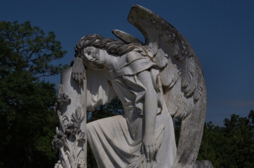 Weeping Angel Monumental Gravestone Art Marble Cobb Family Plot Mt. Zion United Methodist Church Telfair County GA Photograph Copyright Brian Brown Vanishing South Georgia USA 2014