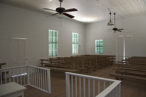 Wesleyanna Memorial Methodist Church Screven County GA 1870 Landmark Interior Pulpit Pews Preserved Photograph Copyright Brian Brown Vanishing South Georgia USA 2014