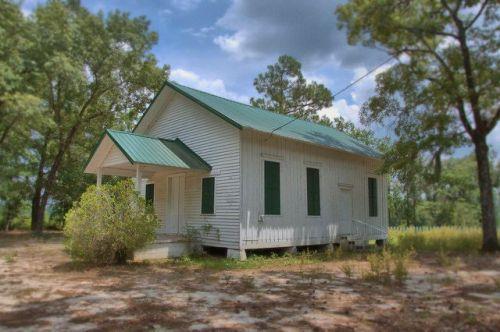 Wesleyanna Memorial Methodist Church Screven County GA Historic Landmark Vernacular Architecture Photograph Copyright Brian Brown Vanishing South Georgia USA 2014
