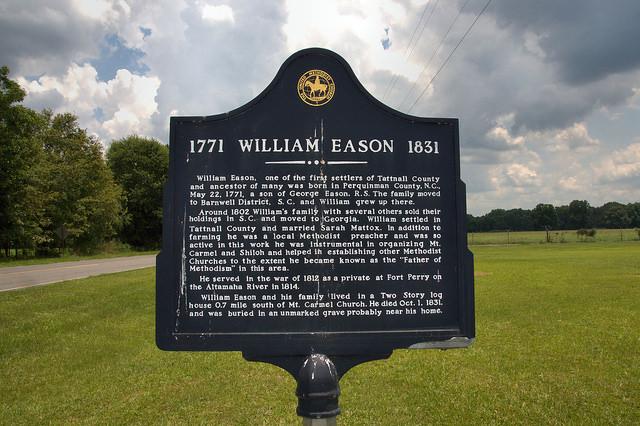 William Eason Tattnall County GA Pioneer Father of Methodism in Area Historic Photograph Copyright Brian Brown Vanishing South Georgia USA 2014