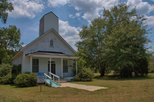 Axson GA Atkinson County United Methodist Church Photograph Copyright Brian Brown Vanishing South Georgia USA 2014