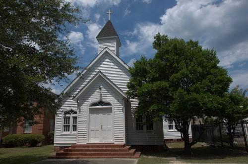Jesup GA Old Church Photograph Copyright Brian Brown Vanishing South Georgia USA 2014