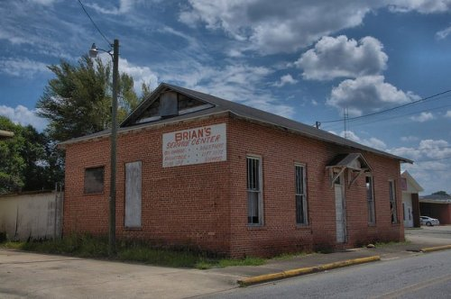 Jesup GA Wayne County Historic Railroad Building Brians Service Center Photograph Copyright Brian Brown Vanishing South Georgia USA 201`4