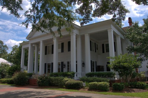 Jesup GA Wayne County Landmark House Neoclassical Architecture Square Doric Columns Fanlight Old South Photograph Copyright Brian Brown Vanishing South Georgia USA 2014
