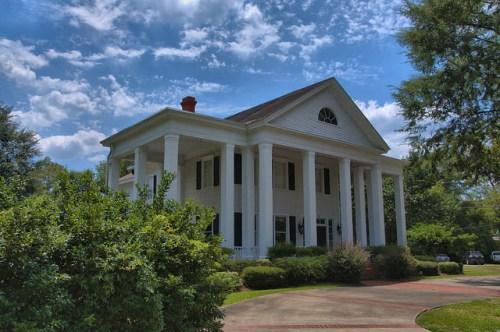 Jesup GA Wayne County Landmark House Neoclassical Architecture Square Doric Columns Fanlight Photograph Copyright Brian Brown Vanishing South Georgia USA 2014
