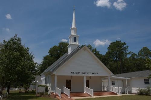 Mt. Zion Baptist Church Atkinson County GA Photograph Copyright Brian Brown Vanishing South Georgia USA 2014