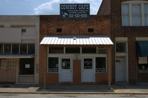 Pearson GA Atkinson County Cowboy Cafe Downtown Restaurant Photograph Copyright Brian Brown Vanishing South Georgia USA 2014
