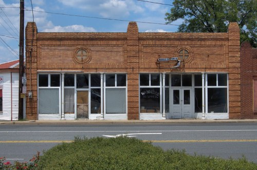 Pearson GA Atkinson County Waddelles Furniture Company Building Photograph Copyright Brian Brown Vanishing South Georgai USA 2014