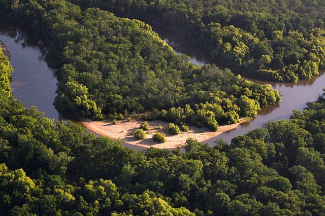 Altamaha River Aerial Wayne County GA Photograph Copyright Brian Brown Vanishing South Georgia USA 2014