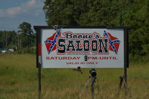 Boone's Saloon Sign Jacksonville GA Telair County Local Landmark Watering Hole Photograph Copyright Brian Brown Vanishing South Georgia USA 2014