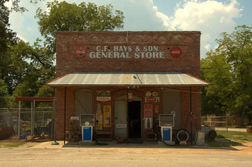 C F Hays & Sons General Store Musella GA Crawford County Landmark Working Gas Pumps Authentic Country Store Photograph Copyright Brian Brown Vanishing South Georgia USA 2014