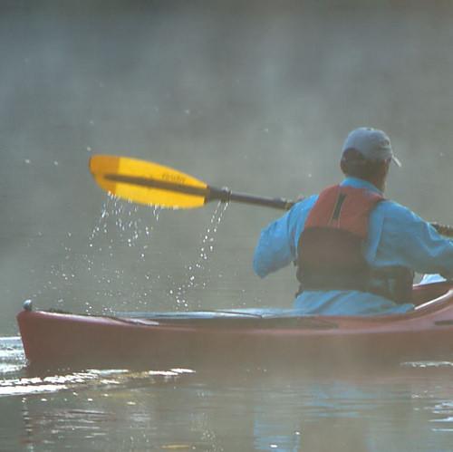 Canoe on the Altamaha River Early Morning Fog Detail Wayne County GA Photograph Copyright Brian Brown Vanishing South Georgia USA 2014