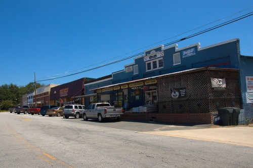 Downtown Roberta GA Crawford County Agency Street Storefronts Hardware Store Photograph Copyright Brian Brown Vanishing South Georgia USA 2014