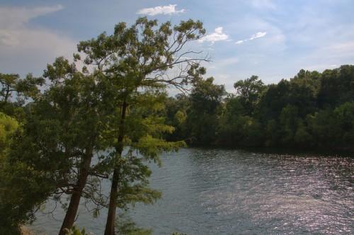 Flint River at Vada Boat Landing Mitchell County GA Photograph Copyright Brian Brown Vanishing South Georgia USA 2014