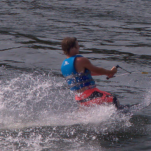 Flint River Water Skier Skiing at Vada Landing Mitchell County GA Photograph Copyright Brian Brown Vanishing South Georgia USA 2014