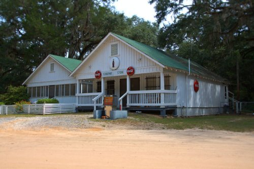 Ichauway Store Woodruff Plantation Baker County GA Iconic Landmark  Coca Cola Signs Photograph Copyright Brian Brown Vanishing South Georgia USA 2014