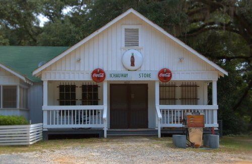 Ichauway Store Woodruff Plantation Baker County GA Iconic Landmark Photograph Copyright Brian Brown Vanishing South Georgia USA 2014